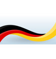 germany waving national flag modern unusual shape vector image