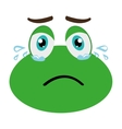 green avatar frog crying graphic vector image vector image