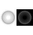 halftone dots circle frame background logo design vector image vector image