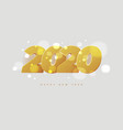 happy new year 2020 banner golden luxury numbers vector image vector image