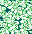 Hibiscus tropical leaves in a seamless pattern vector image vector image