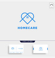 home love care logo design icon element isolated vector image