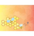 Honey bees vector image