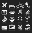Hotel white icons set