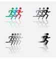 icon of the running man vector image vector image