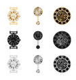 isolated object of clock and time logo set of vector image