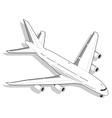 Isometric White Airplane vector image