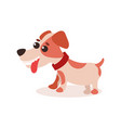 jack russell terrier character cute funny dog vector image vector image