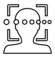 loading face recognition icon outline style vector image