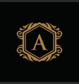 luxury logo template in for restaurant royalty vector image vector image