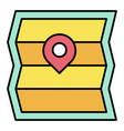 map and pin icon summer vacation related vector image vector image