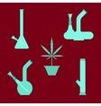 Marijuana equipment vector image vector image