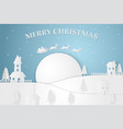 merry christmas and happy new year paper art of vector image vector image