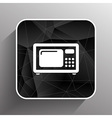 microwave icon kitchen equipment electronics vector image vector image
