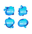mineral spring water logo labels and stickers vector image vector image