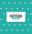 minimal blue background with white polka dots vector image vector image