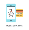 Mobile Commerce vector image vector image