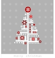 Modern Christmas greeting card vector image vector image