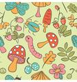 mushroom background vector image vector image