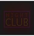 Night Club banner vector image