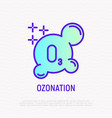 ozonation thin line icon vector image vector image