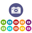photo camera set icons vector image vector image