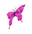 Pink butterfly icon isometric 3d style vector image vector image