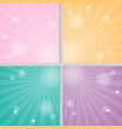 pink yellow green and purple solar background vector image
