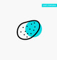 potato food turquoise highlight circle point icon vector image vector image