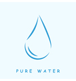 Pure water logo vector image vector image