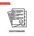 Questionnaire icon thin line