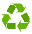 recycling symbol isolated vector image
