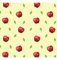Red apple seamless pattern in retro style vector image vector image
