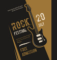 retro grunge rock and roll heavy metal music vector image vector image