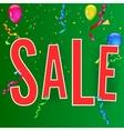 Sale banner on festive background vector image vector image