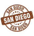 san diego brown grunge round vintage rubber stamp vector image vector image