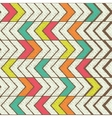 Seamless color hand-drawn triangles pattern vector image vector image