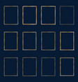 set luxury golden frames and borders set set vector image vector image