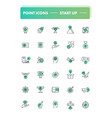 set of 30 line icons start up vector image vector image