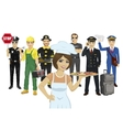 Set of diverse people Various professions vector image vector image