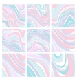 Set of Marble Patterns - Abstract Texture with vector image vector image