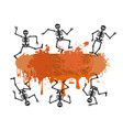 skull dancer banner for halloween design vector image vector image