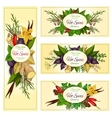 Spice herb and condiment banners for food design vector image vector image