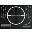 Telescopic sight cross of sniper gun or drone vector image vector image