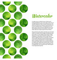 watercolor background with green circles abstract vector image vector image