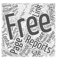 where to position your free reports on your site vector image vector image