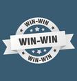 Win-win ribbon win-win round white sign win-win