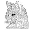 wolf coloring page vector image