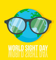 world retina day concept background flat style vector image