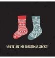 xmas socks3 vector image vector image